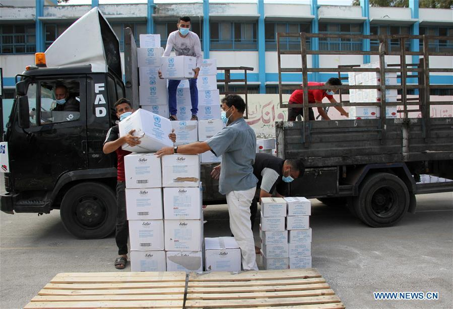 UNRWA provides food at refugee camp in Gaza City