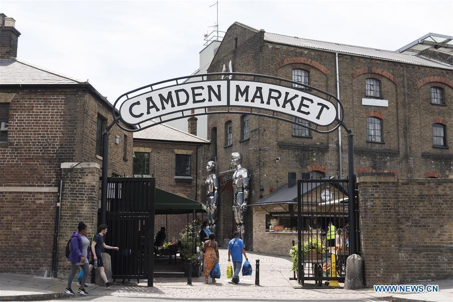 Camden Market reopens in London, Britain