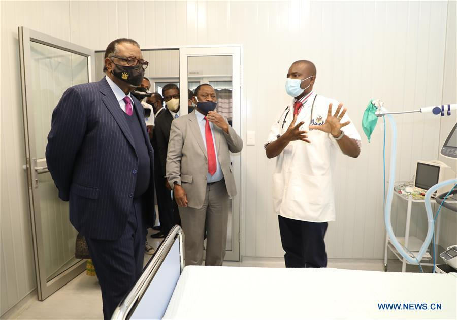 Namibian president commissions isolation facility built by Chinese firm