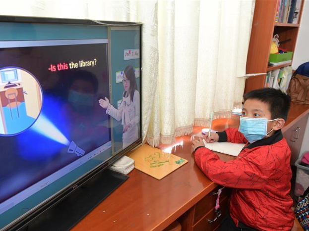 Chinese parents mostly positive about effects of online courses: survey