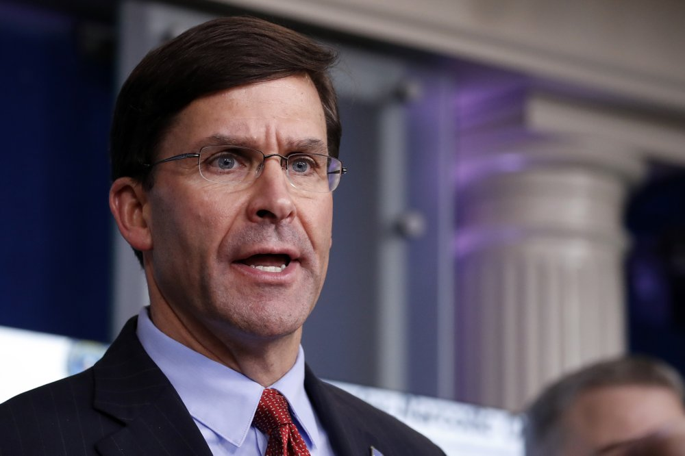Pentagon chief breaks with Trump over protest response