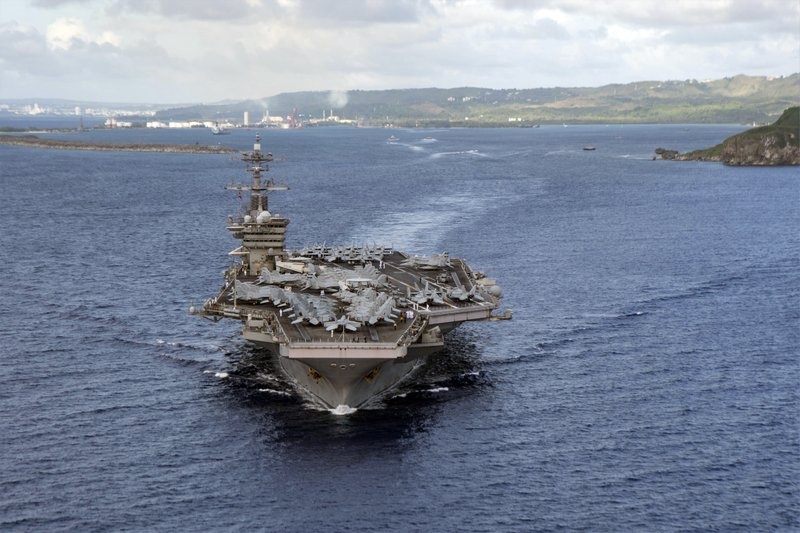 US navy carrier sidelined by virus is back operating in Pacific
