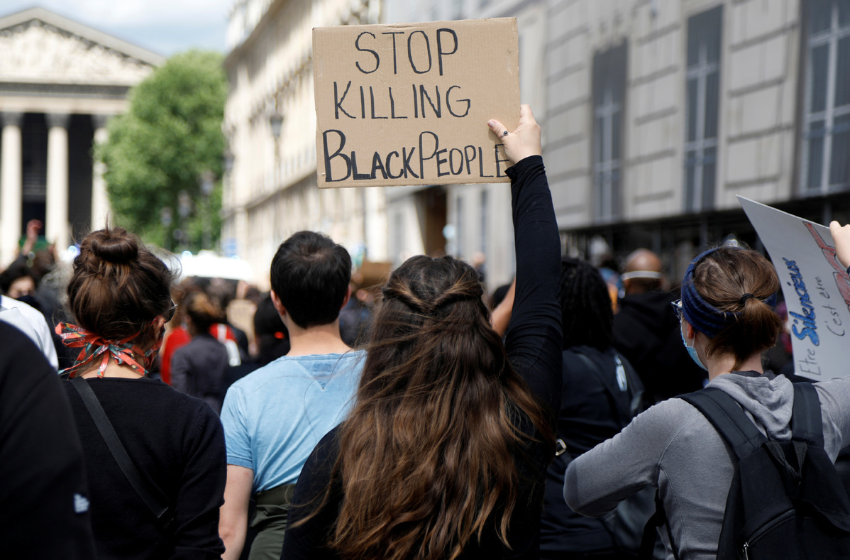 Tens of thousands rally in France against racism and police violence