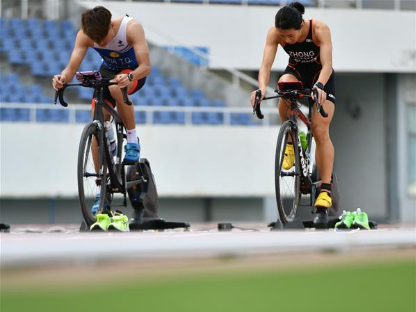 National duathlon competition online held in Shandong
