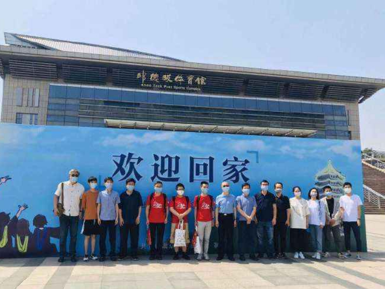 Students welcomed back to campus in Beijing