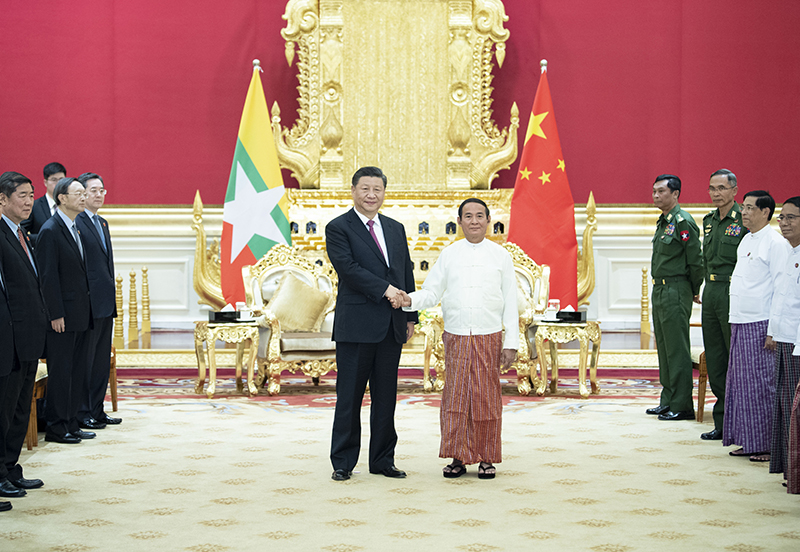 Xi, Myanmar president exchange congratulations on 70th anniversary of diplomatic ties