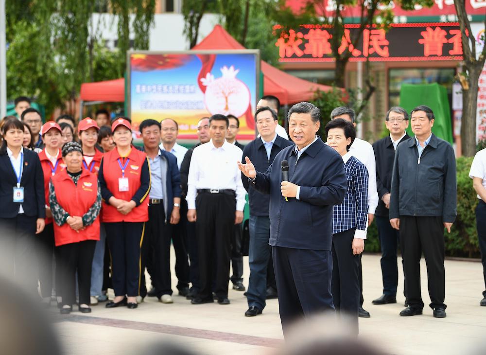 Xi inspects Northwest China's Ningxia