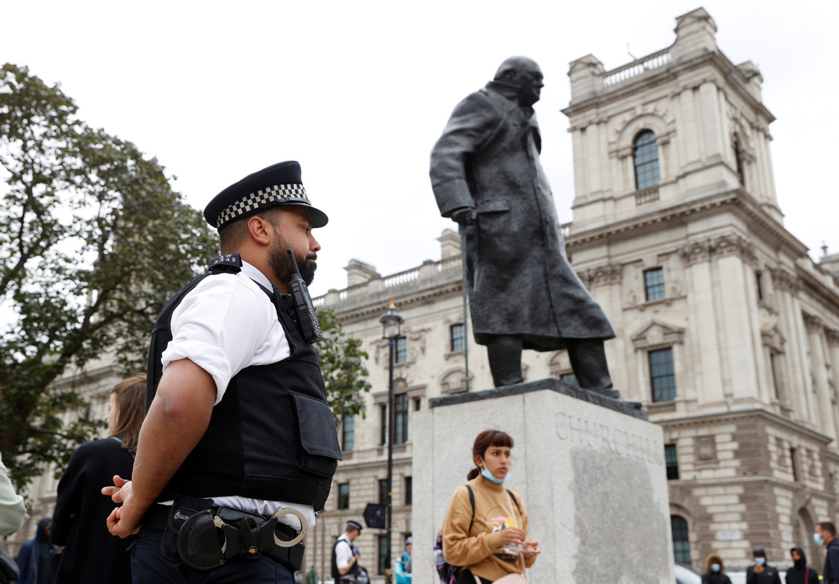 UK PM urges anti-racism protesters to work 'peacefully, lawfully'