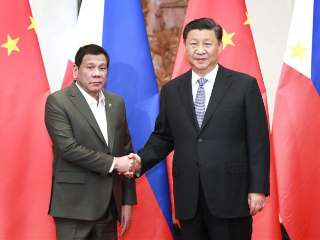 Xi says ready to promote China-Philippines ties to new levels