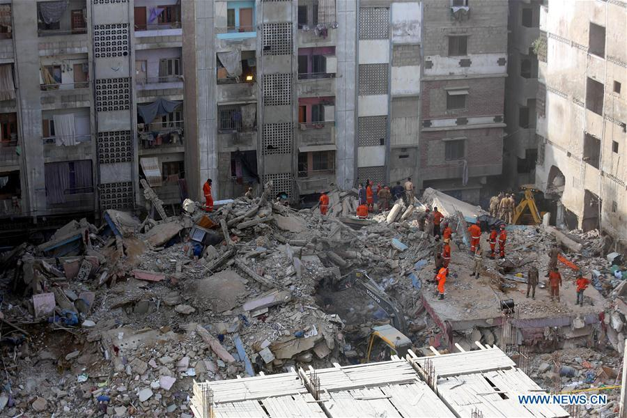 Death toll of building collapse in Pakistan's Karachi rises to 13