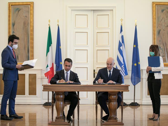 Greece, Italy sign agreement for delimitation of maritime zones
