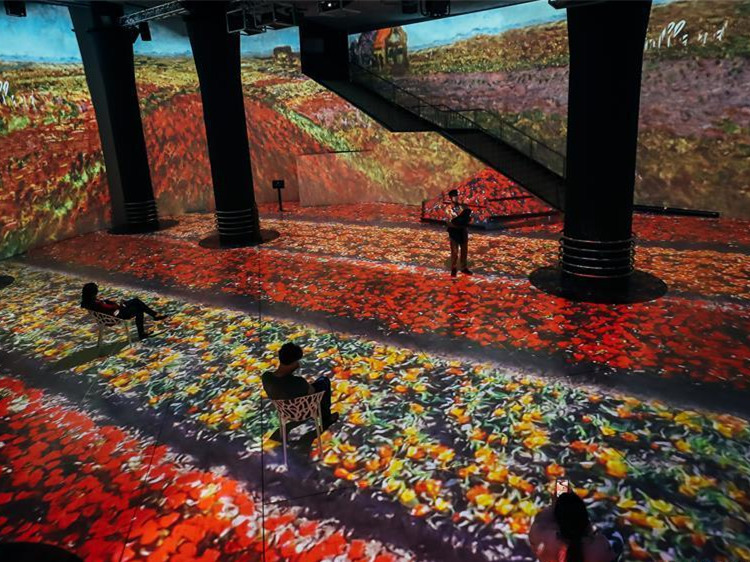 """Claude Monet: The Immersive Experience"" exhibition held in Brussels, Belgium"