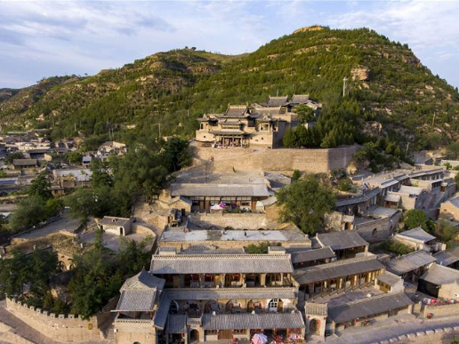 View of Qikou ancient town in Shanxi