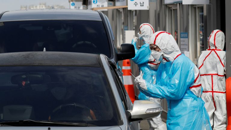 S.Korea reports 56 more COVID-19 cases, 12,003 in total