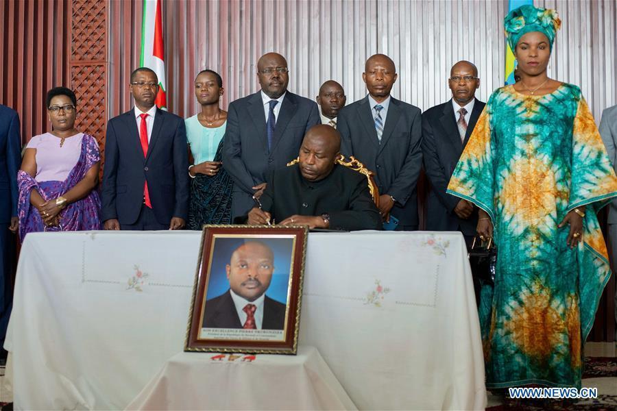 Burundi's president-elect to take office following Nkurunziza's death