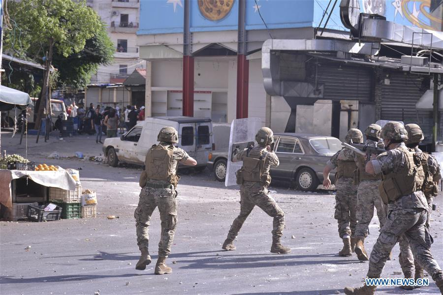 Protests in Lebanon's Tripoli leave 20 people injured