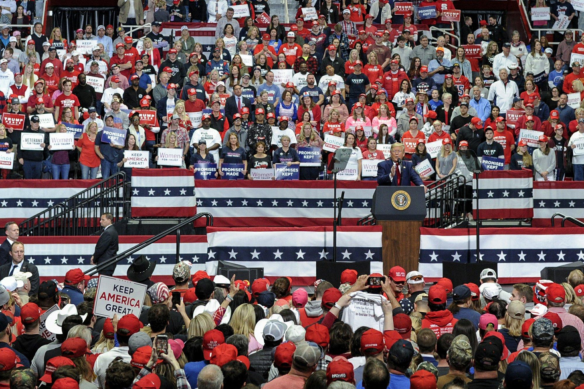 Trump rally called 'dangerous move' in age of coronavirus