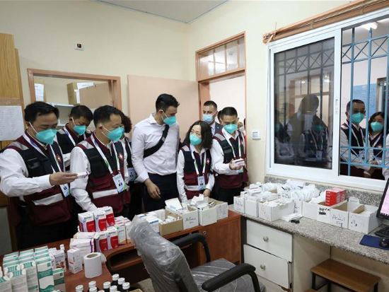 Chinese medical expert team visits refugee camp in Palestine