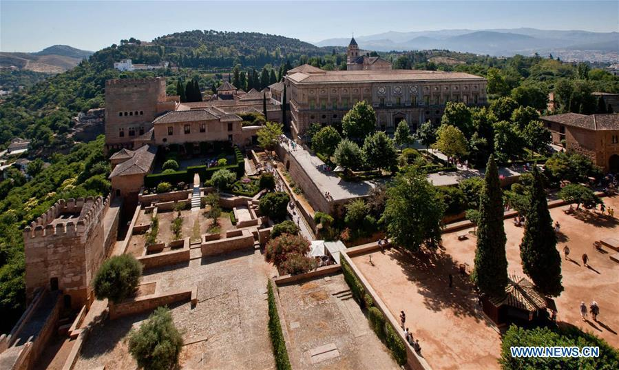 Alhambra Palace in Spain reopens to visitors