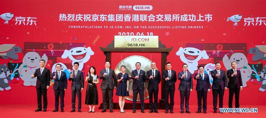 JD.com starts trading in Hong Kong