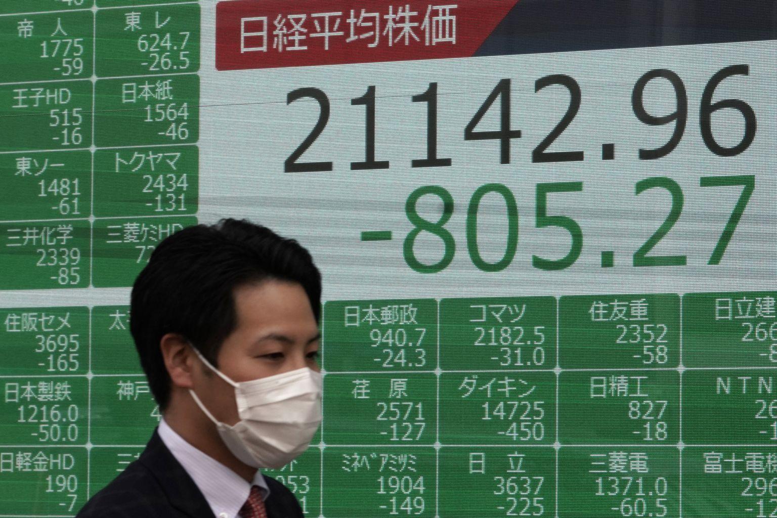 Tokyo stocks open lower on virus worries, higher yen