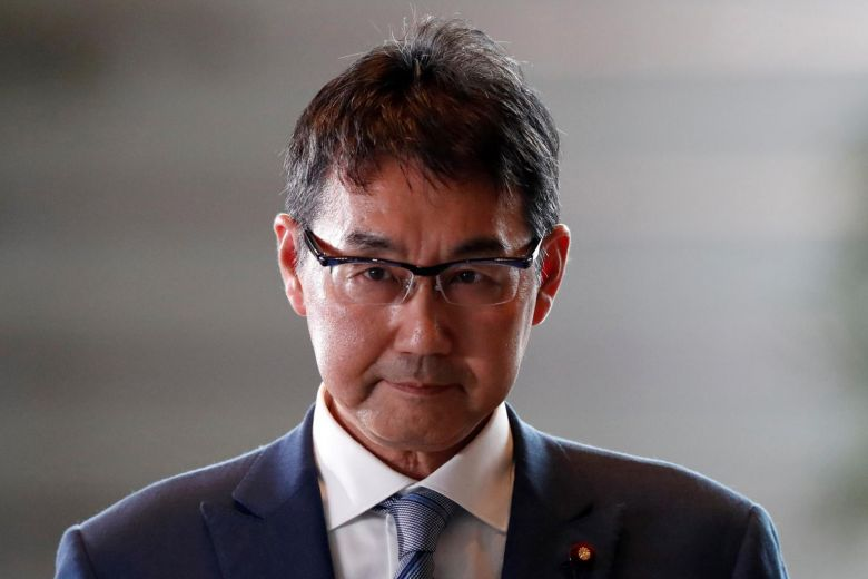 Ex-Japanese justice minister, wife arrested over election law violation