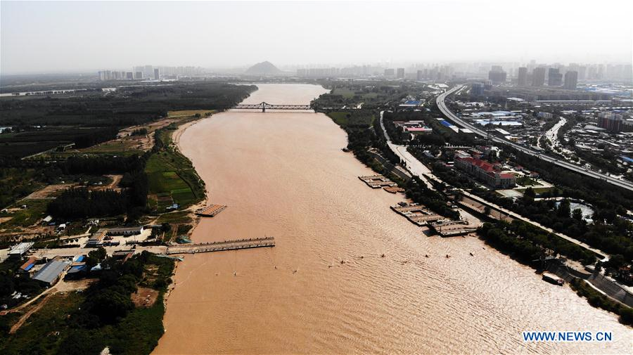 China's Yellow River sees first flood this year