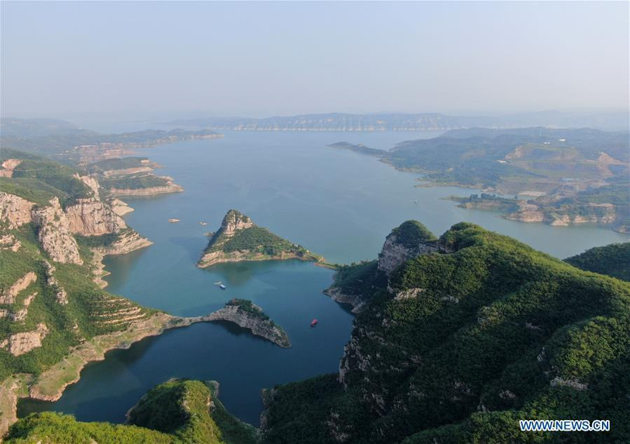 Scenery of Xiaolangdi Reservoir in Henan