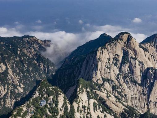 View of Mount Huashan in Shaanxi
