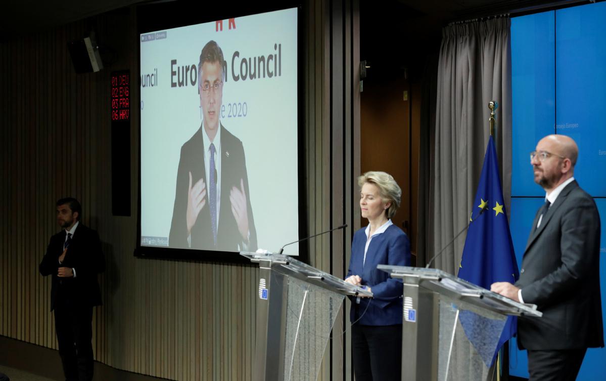 EU leaders enter tough negotiation for massive recovery plan