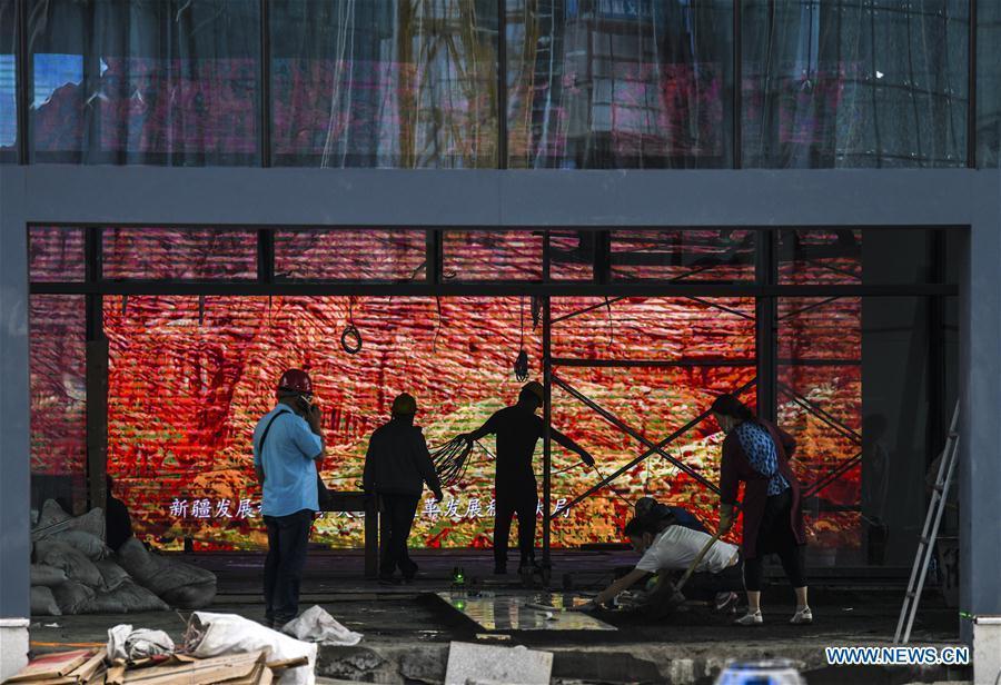 Cultural center in Urumqi under construction