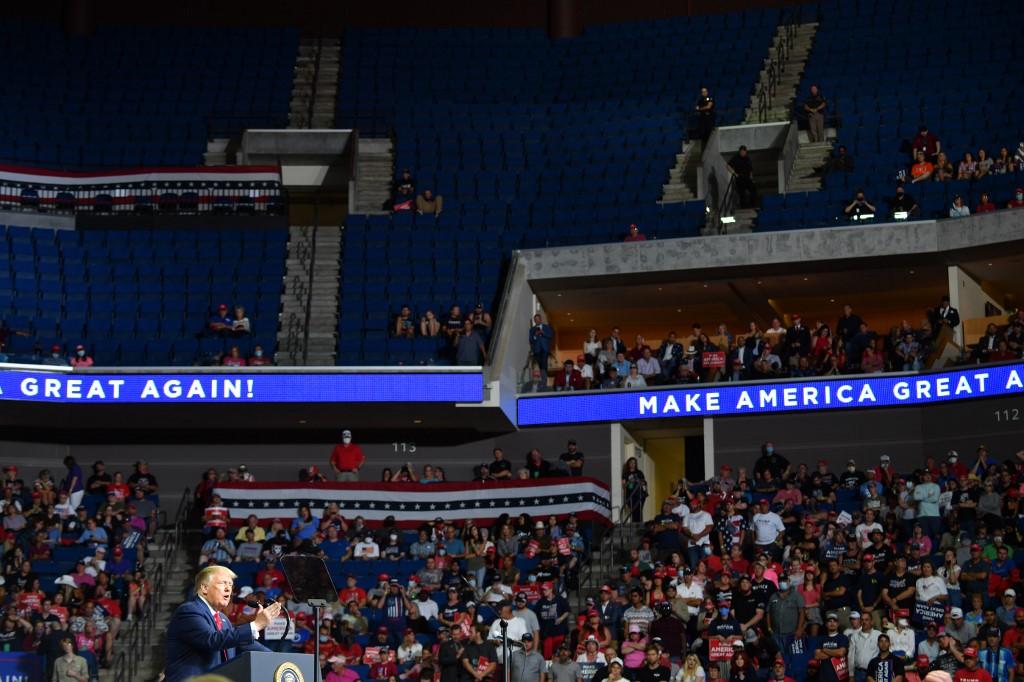 Six campaign staffers test positive for coronavirus ahead of Trump rally