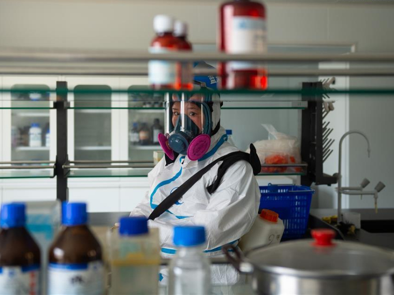 Disinfection conducted at meat food research center in Beijing