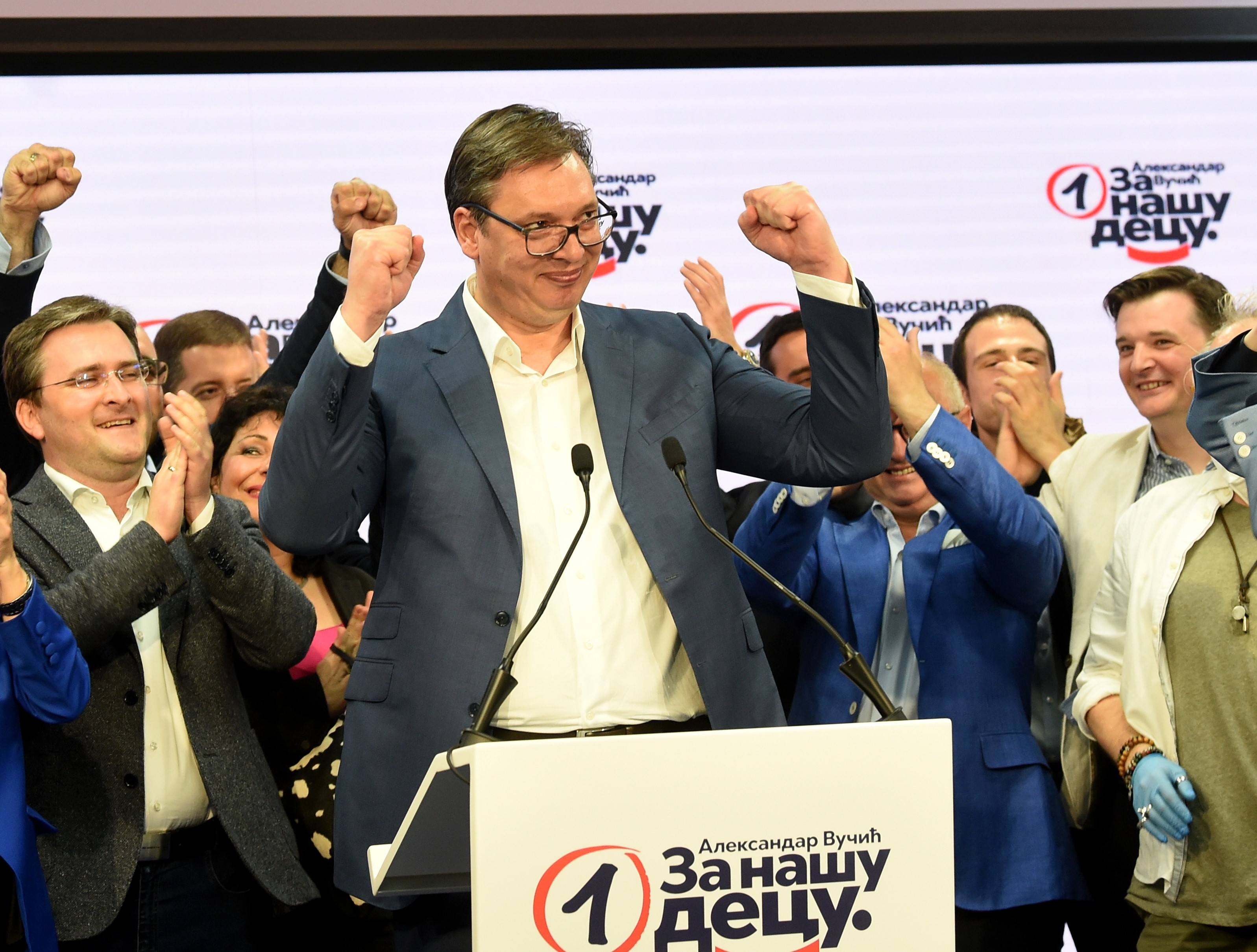 Serbia's ruling party wins 61% of vote amid opposition boycott