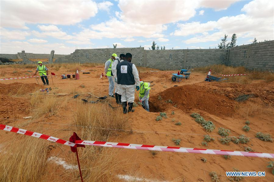 10 bodies found in mass graves in Libya's Tarhuna: official