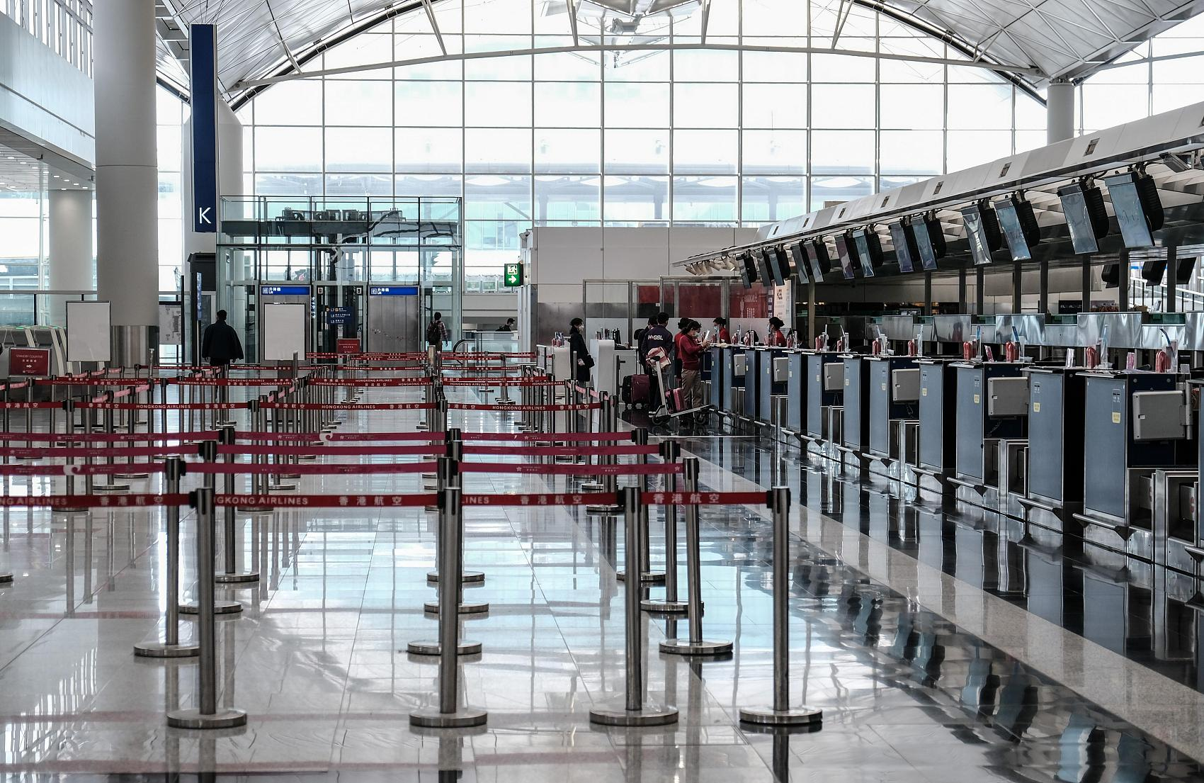 Hong Kong airport's passenger volume drops 18.9 pct in fiscal year 2019/20