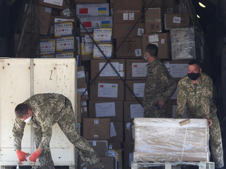 Ukraine receives large batch of humanitarian aid from China