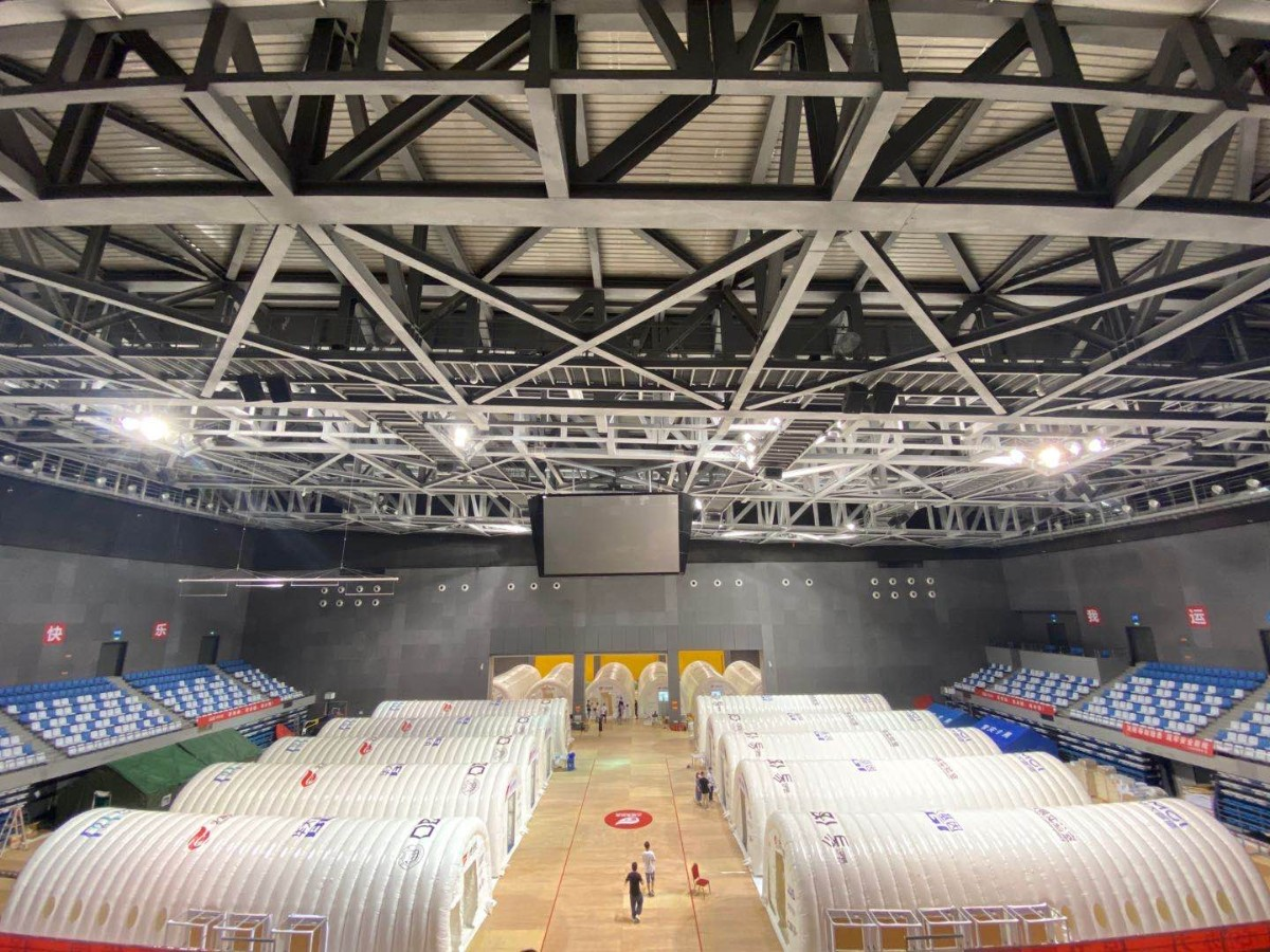 Inflatable COVID-19 testing lab expanded to conduct 100,000 tests per day