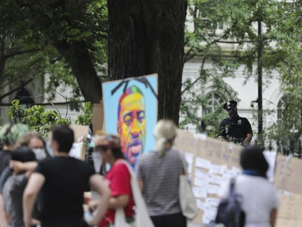 People attend 'Occupy City Hall' protest in New York