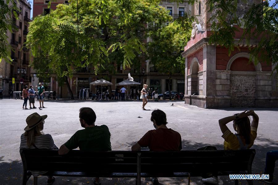 Daily life in Barcelona, Spain amid COVID-19 pandemic