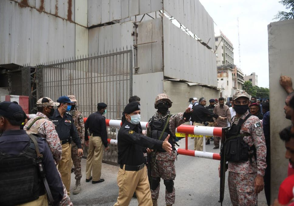 Six people killed in attack on Pakistan Stock Exchange