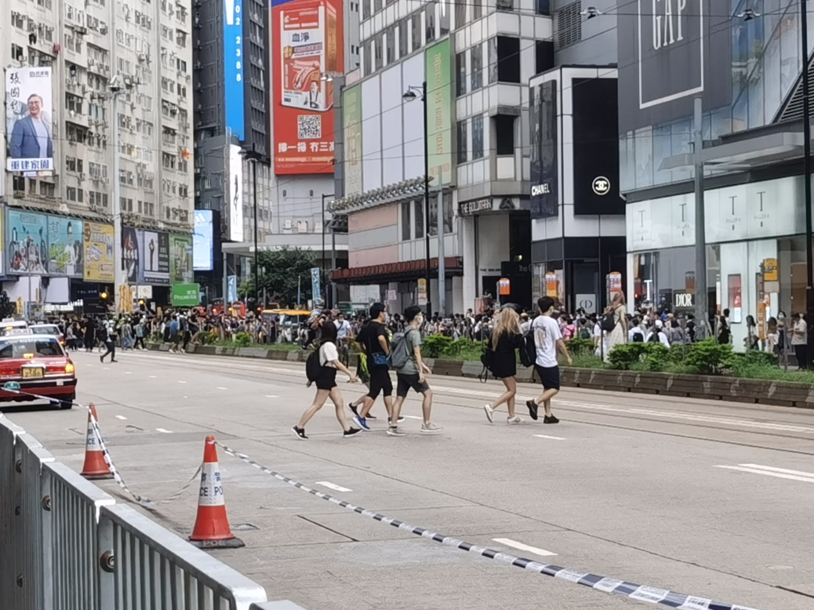 30 arrested in HK's Causeway Bay for illegal activities