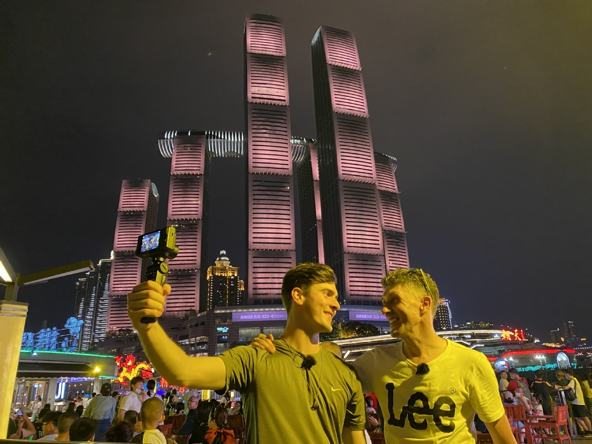 YouTubers explore Chongqing for audience of millions
