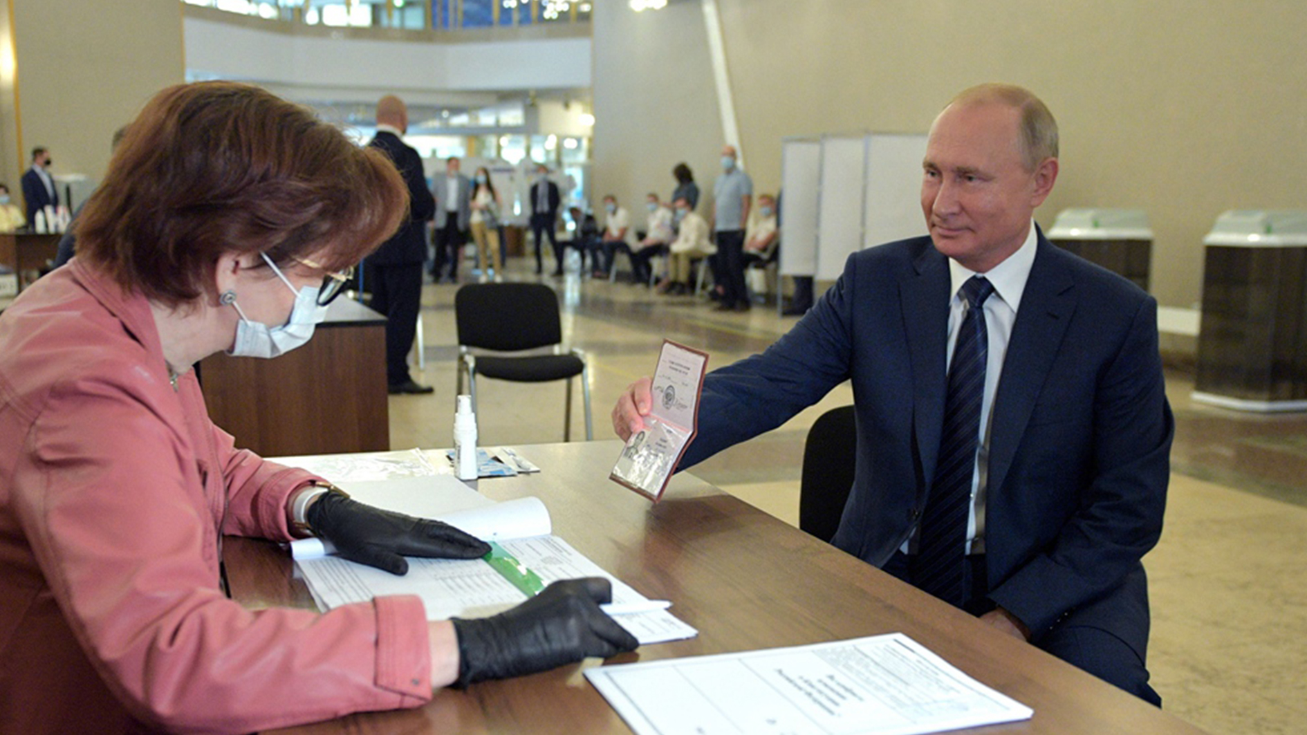 Putin casts vote on constitutional reforms that could extend his rule