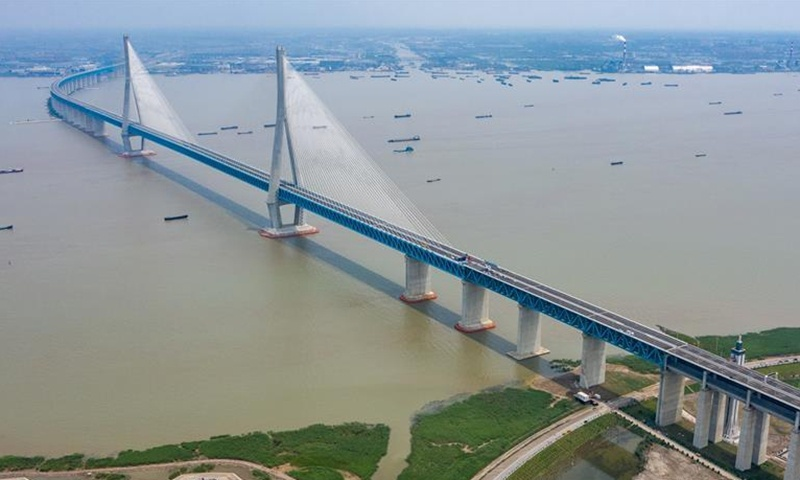 Road-rail cable-stayed bridge with world's longest span opens to traffic
