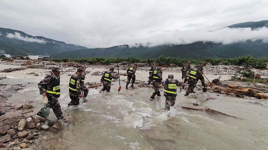 16 killed as heavy rainstorm lashes SW China's Sichuan