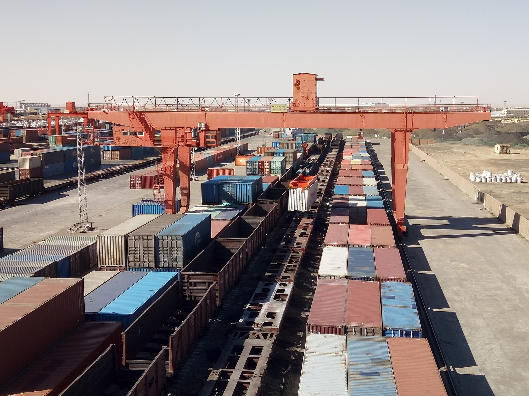 China-Mongolia border port sees more China-Europe freight trains in H1