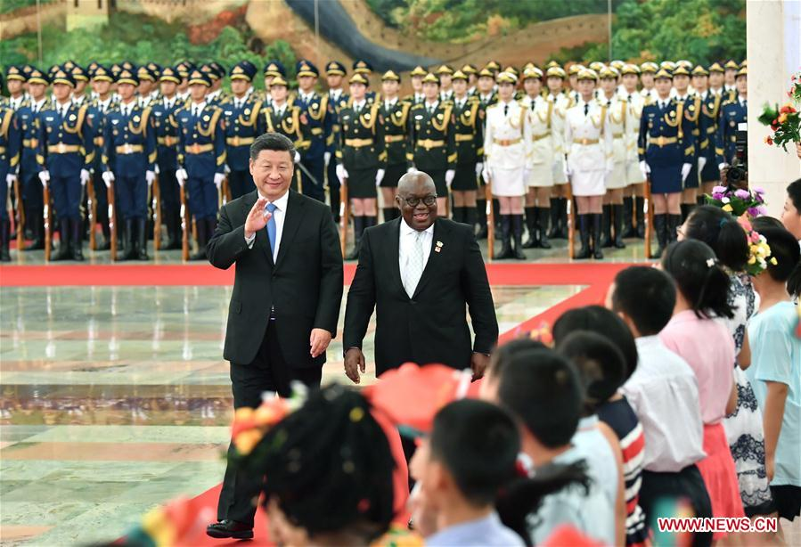 Chinese, Ghanaian leaders exchange congratulations on 60th anniversary of diplomatic ties