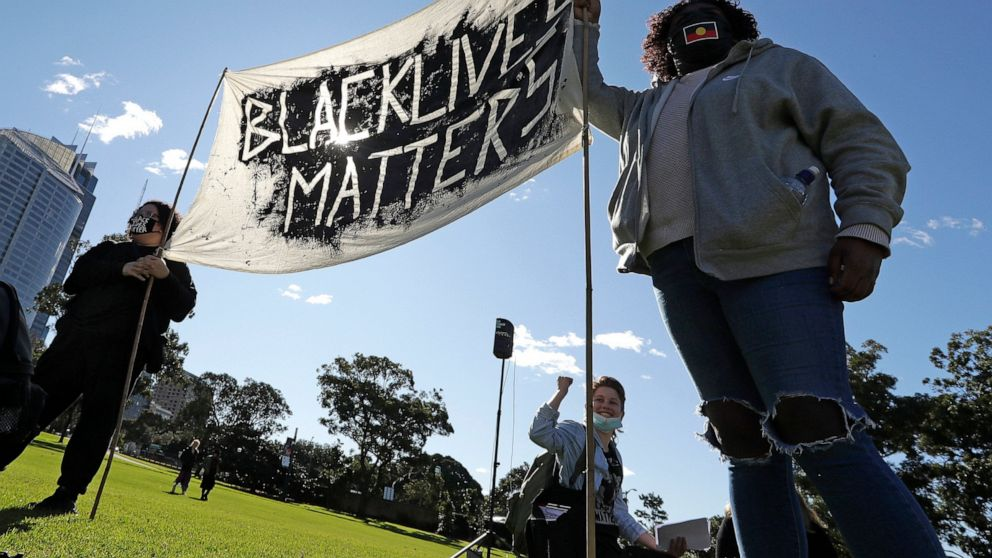 Thousands rally at Black Lives Matter protests in Australia