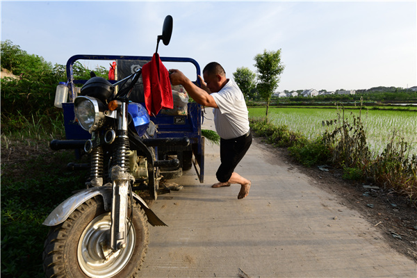 Poverty-beating farmer seeds future success in Central China village